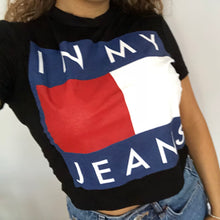 ADRIANA 'IN MY JEANS' BLACK CROP TOP