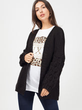 TIA BLACK BOBBLE SLEEVE CARDIGAN