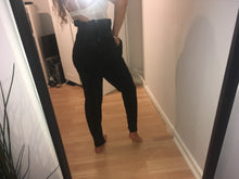 SIMONE BLACK PAPERBAG HIGH WAISTED TROUSERS