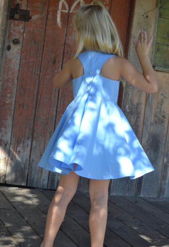 Racer back dress blue
