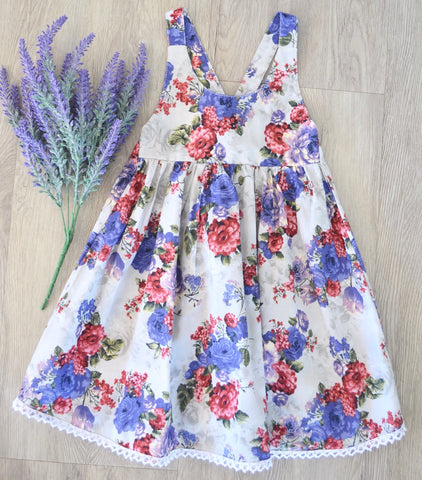 Nora dress blue