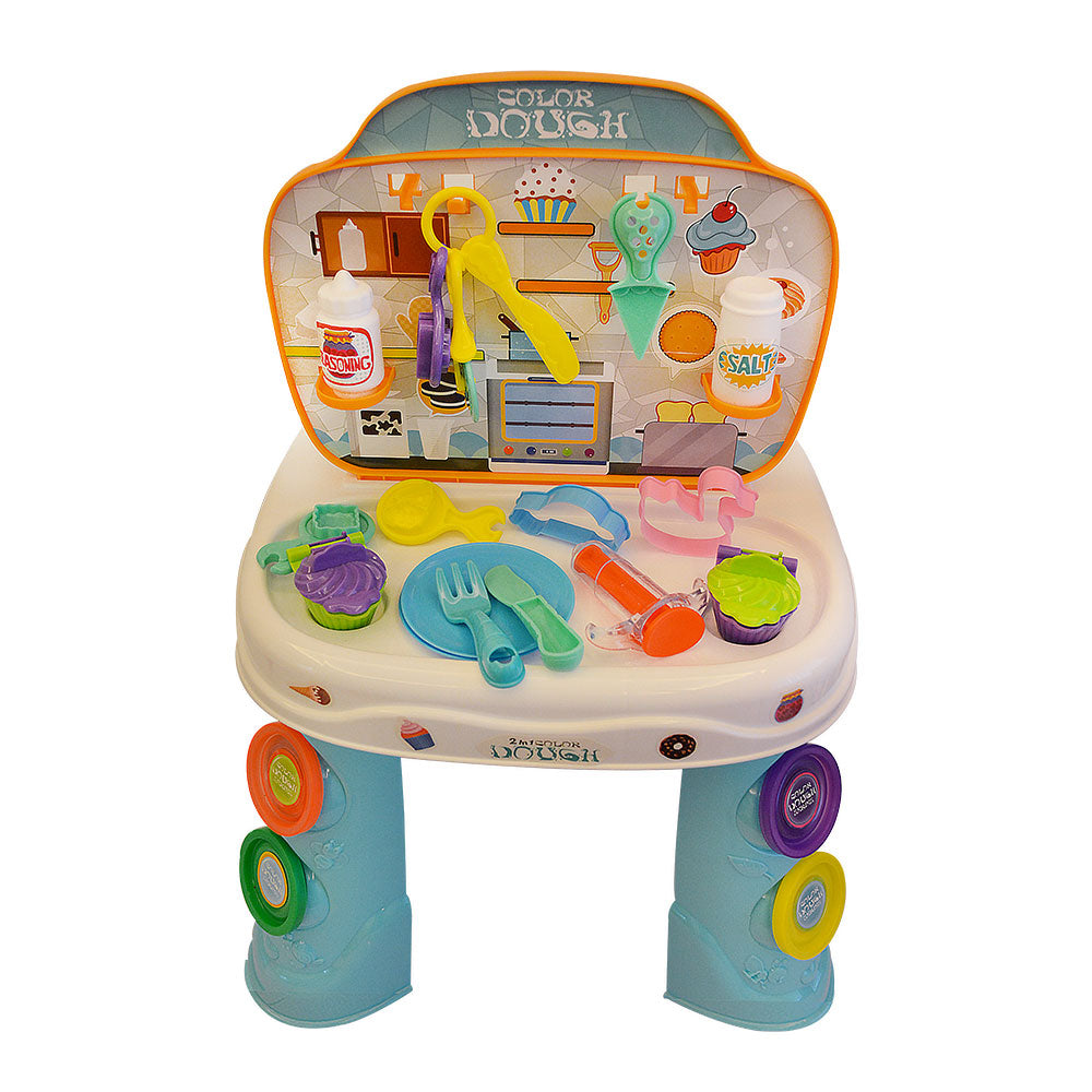 Kitchen Set and Play Dough, 2-in-1 Pretend Play Set