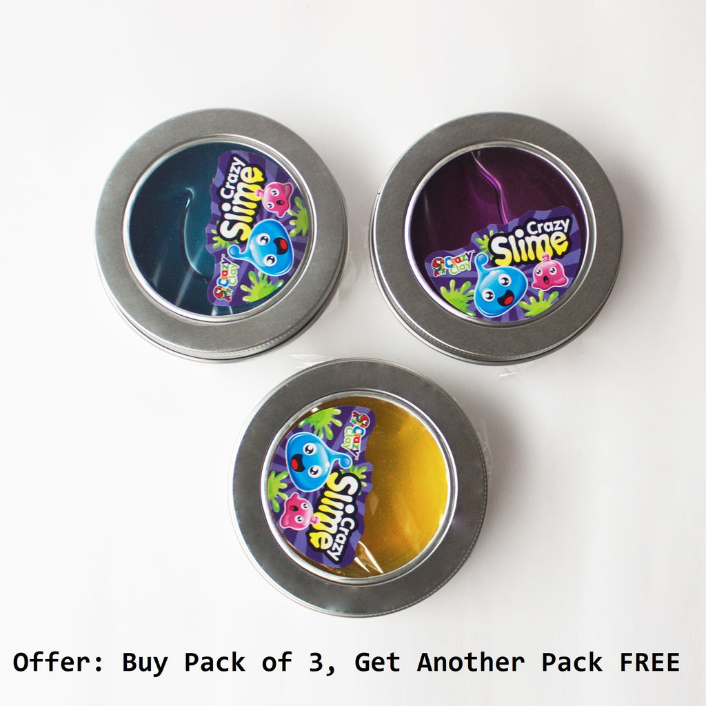 BOGO: Slime for Kids, Pack of 3 Individually Boxed Colours, Get 3 Free