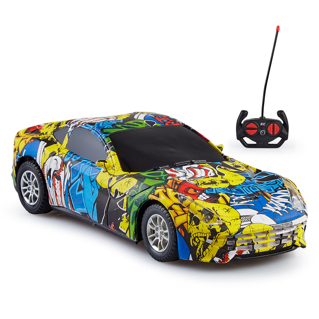 Remote Control Car Graffiti Series, 1:20 Scale Model - Design 1