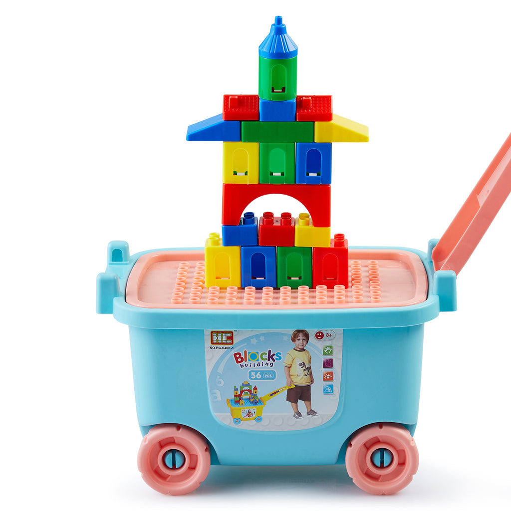 Building Blocks 56 Pcs with Ride-on Case