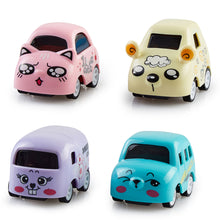 Load image into Gallery viewer, Pull Back Cars - Cute Animal Cartoon, Unbreakable (Set of 4)