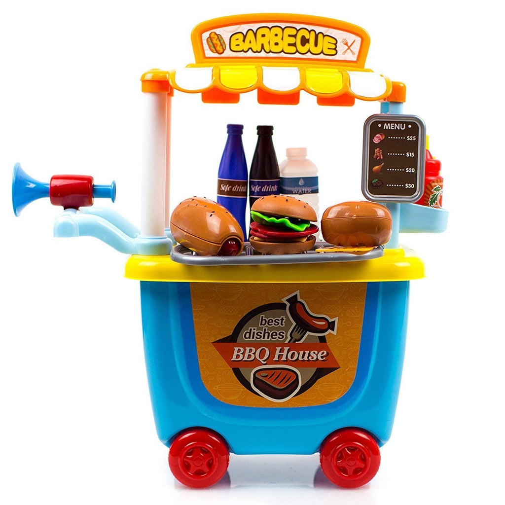 BBQ House 33 Pcs Play Cart