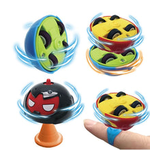 Load image into Gallery viewer, Gyro Cars Friction Toy, Set of 4 Spinning Battle Gyro Chariots