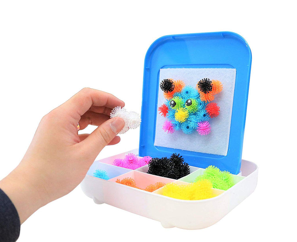Magic Velcro Balls Building Set with Easel and Carry Case - 150 Pcs