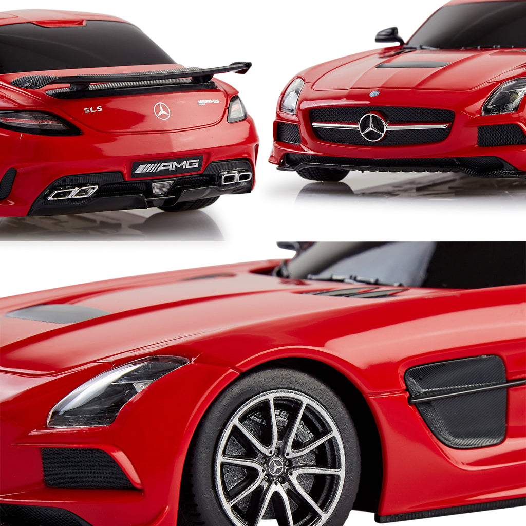 Mercedes Benz Toy Car, Remote Controlled SLS AMG, 1:18 Scale