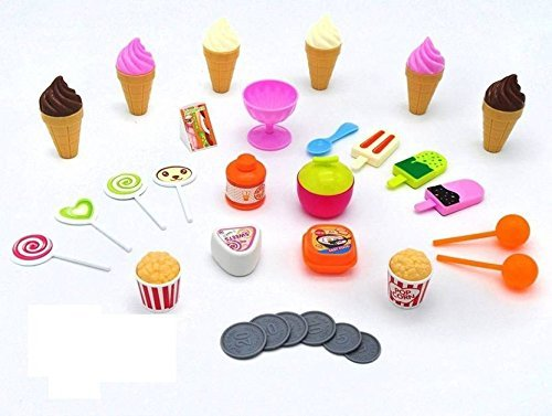 Ice Cream Sweet Cart, 39 Pcs Play Food