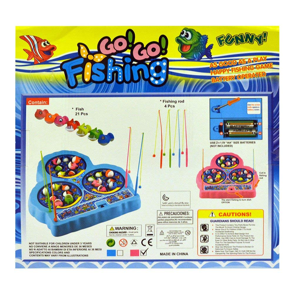 Electronic Spinning Fishing Game for Kids, Fish Catching Toy