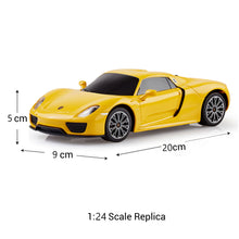 Load image into Gallery viewer, Porsche Remote Control Car 918 Spyder, 1:24 Scale