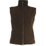 Short Quilted Gillet Front Zipped
