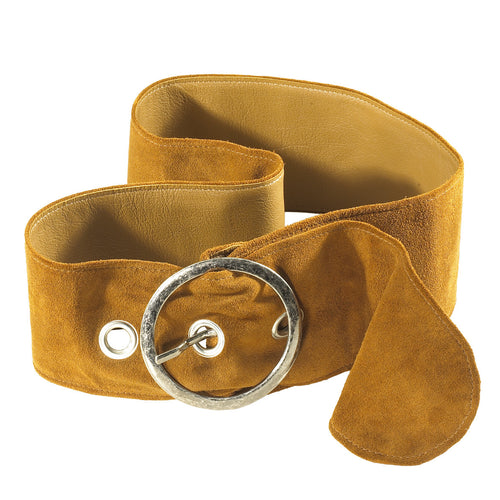 Tan Ladies Oval Buckle Belt