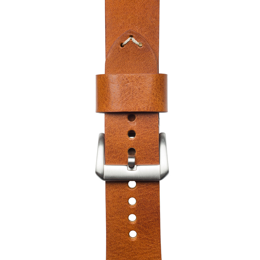 Rosewood Italian Full Grain Leather Strap