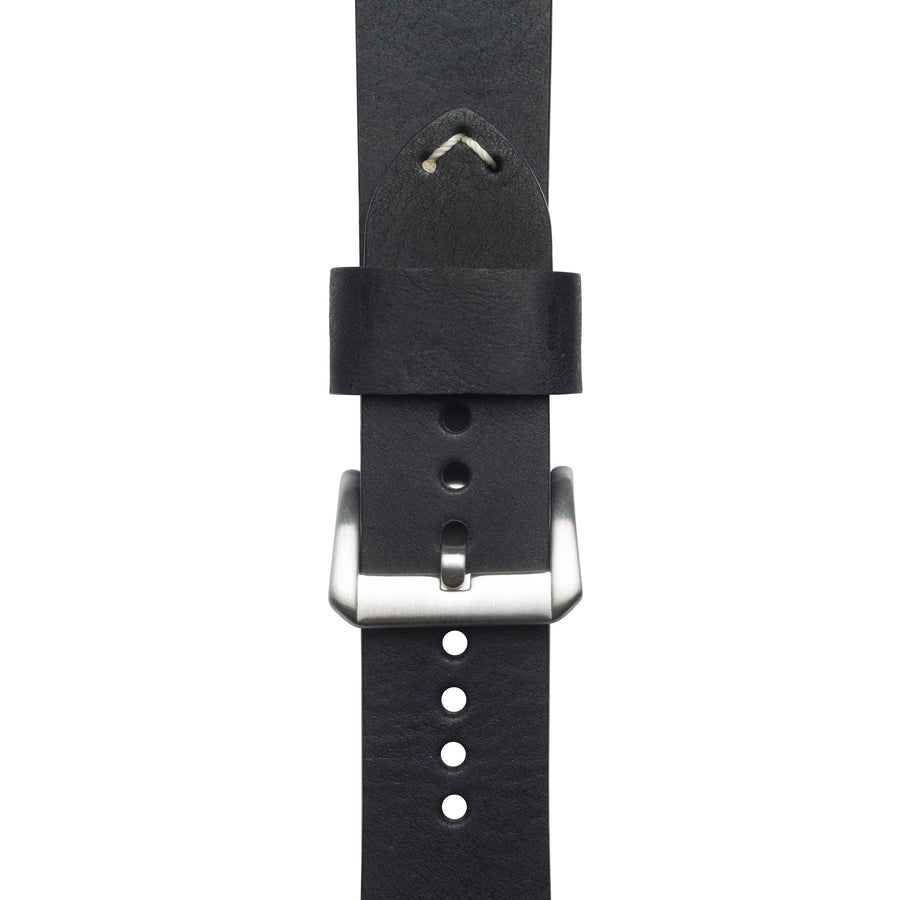 Midnight Italian Full Grain Leather Strap
