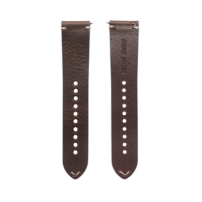 Walnut Italian Full Grain Leather Strap