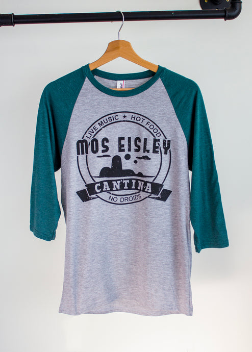 star wars baseball tshirt with mos eisley cantina print