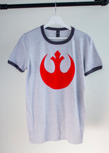 star wars rebel alliance print on a grey tshirt