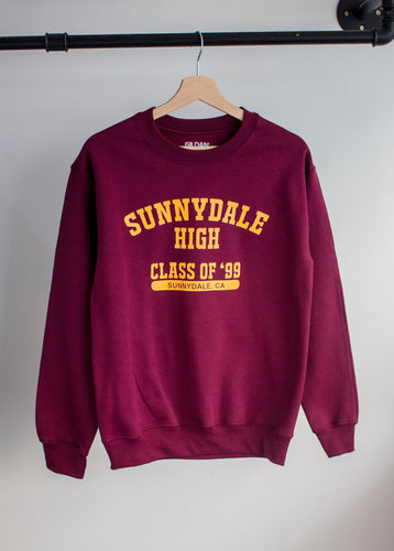 buffy vampire slayer sunnydale high print varsity sweatshirt