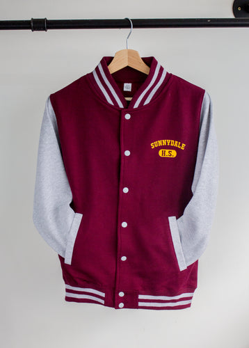 front photo of buffy vampire slayer sunnydale high bomber jacket