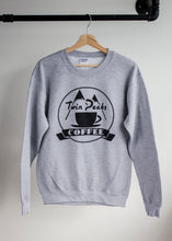 photo of twin peaks coffee print on grey sweater