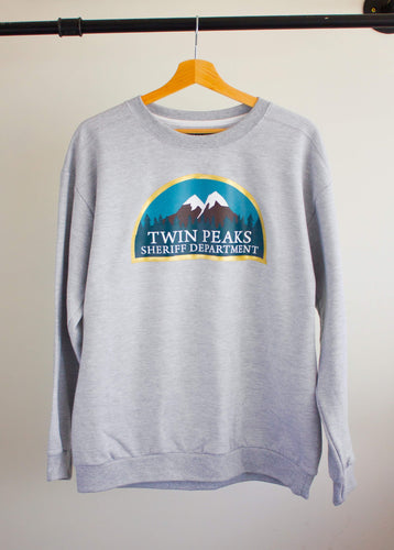 Twin Peaks Sheriff's Dept | Grey Sweater