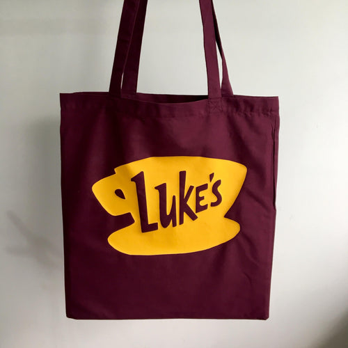 Luke's Diner Tote Bag | Gilmore Girls Print