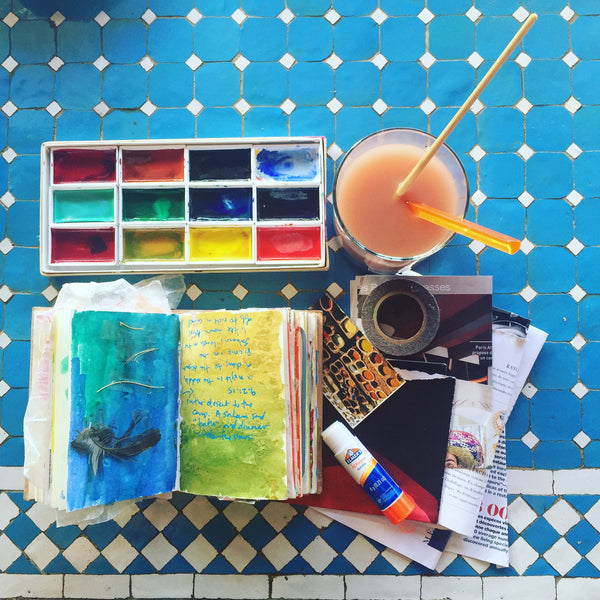 Art Journaling, crayon rubbings, ephemera, and keeping a travel journal - part 2