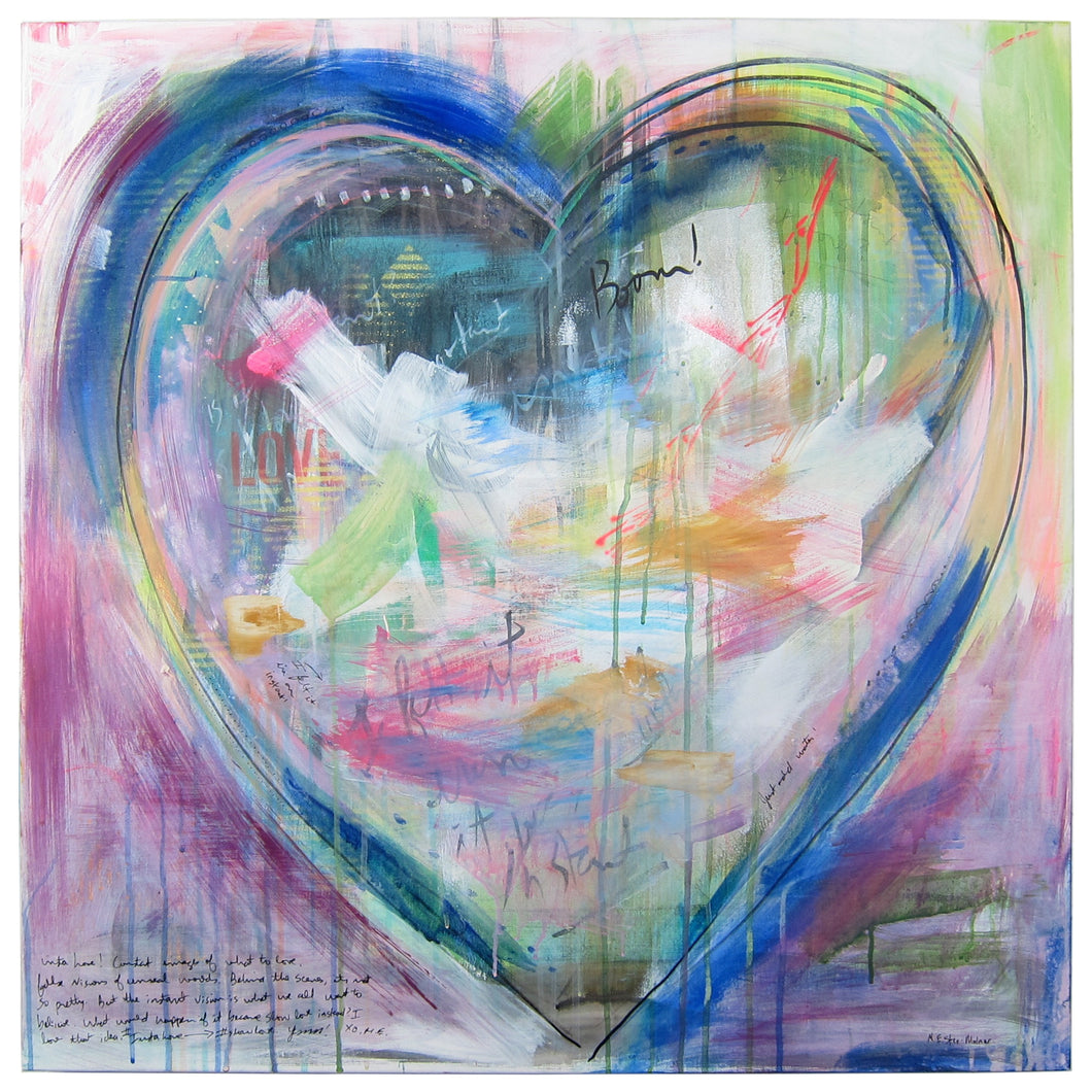 Insta Love - original heart painting
