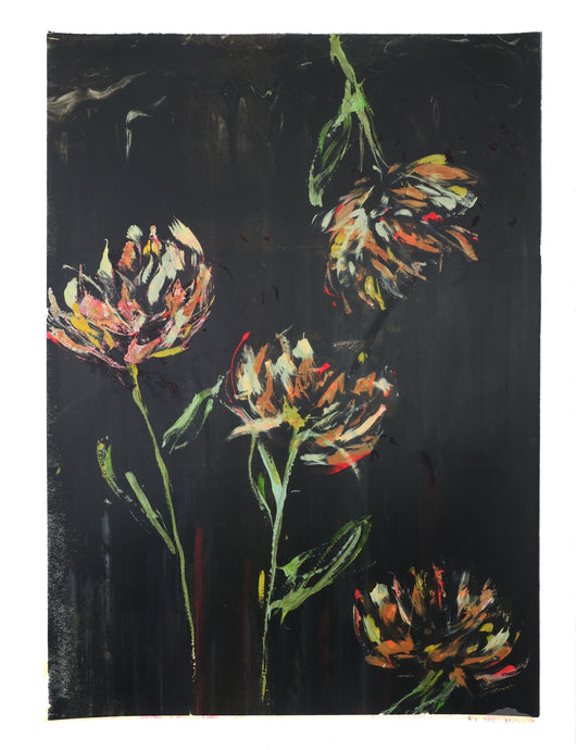 Super Bloom 183 - Orange Roses at Midnight 1 / Light Bright