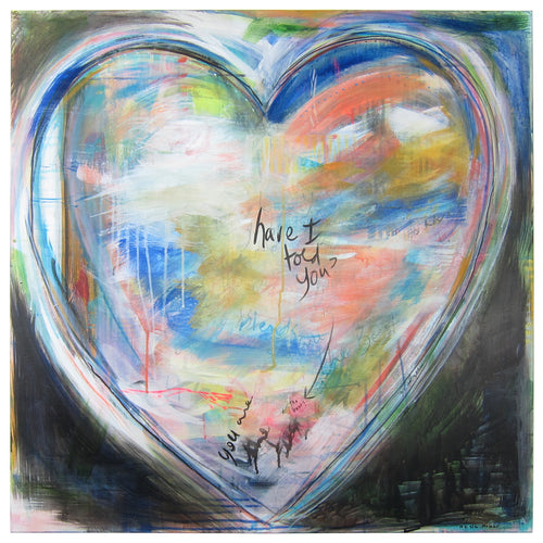 You're the Best - original heart painting