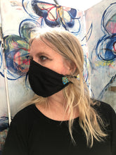 Reversible Fabric face Mask Black/Tan
