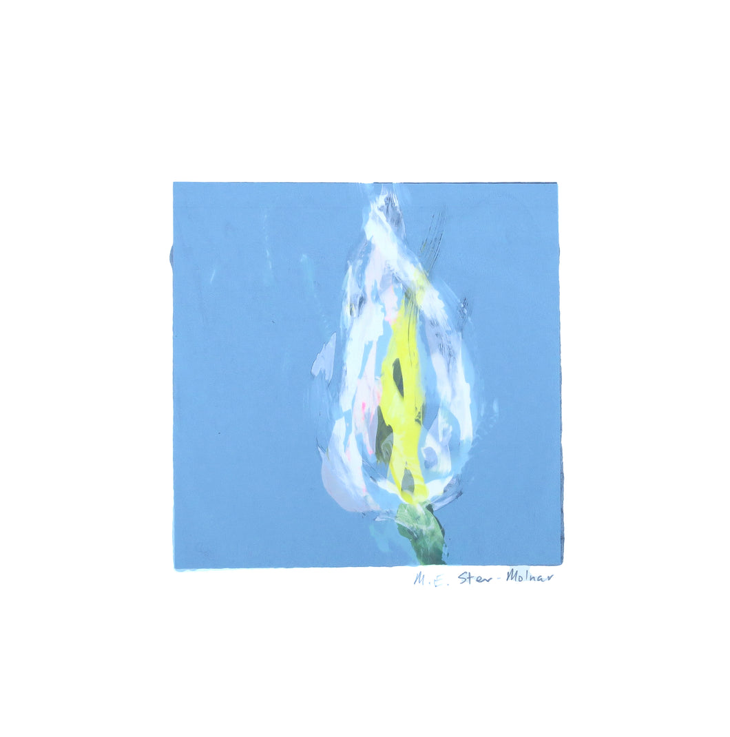 Mini Bloom #69 - Cala Lily robin's egg blue