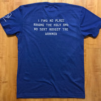 WOMEN'S I AM NO SAINT ROYAL BLUE