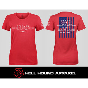 WOMEN'S I STAND RED