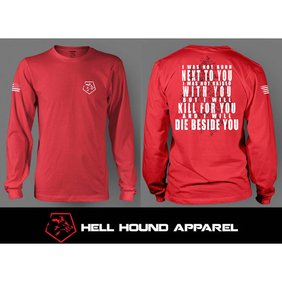 BESIDE YOU LONG SLEEVE RED