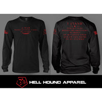 I STAND LONG SLEEVE BLACK