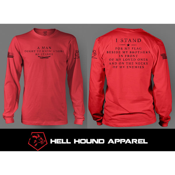 I STAND LONG SLEEVE RED