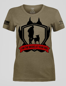WOMEN'S SWORD AT YOUR SIDE OD GREEN RESCUE SHIRT