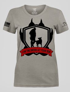 WOMEN'S SWORD AT YOUR SIDE GRAY RESCUE SHIRT