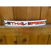 LETHAL BREED METALLIC RED KISS CUT DECAL