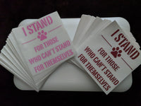 I STAND DOG RESCUE KISS CUT DECAL