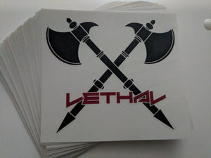 LETHAL AXE KISS CUT DECAL