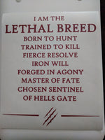 I AM THE LETHAL BREED Kiss Cut Decal