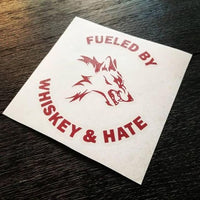 WHISKEY AND HATE KISS CUT DECAL