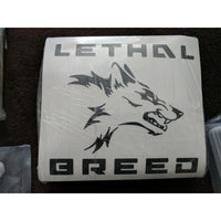 LETHAL BREED BADASS BLACK KISS CUT DECAL