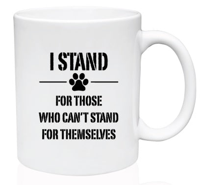 I STAND RESCUE COFFEE CUP