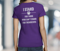 WOMEN'S STAND FOR SOMETHING DOG CHARITY SHIRT